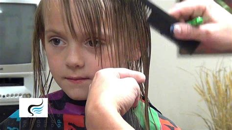 How To Trim Little Girls Bangs