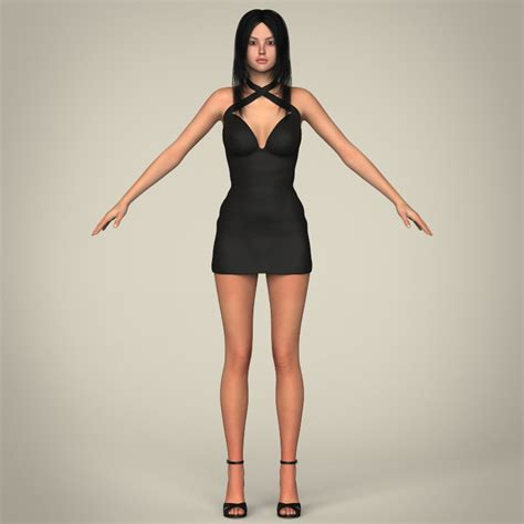 Realistic Sexy Teen Girl 3d Model Buy Realistic Sexy