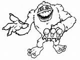 Abominable Snowman Coloring Yeti Pages Drawing Snow Monster Rudolph Printable Drawings Deviantart Getdrawings Results Getcoloringpages sketch template