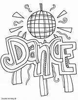 Coloring Pages Dancing Subject Dance Colouring Arts Doodles Subjects Ballroom Classroom Printables Template Doodle Printable English Classroomdoodles Quotes Math Binder sketch template