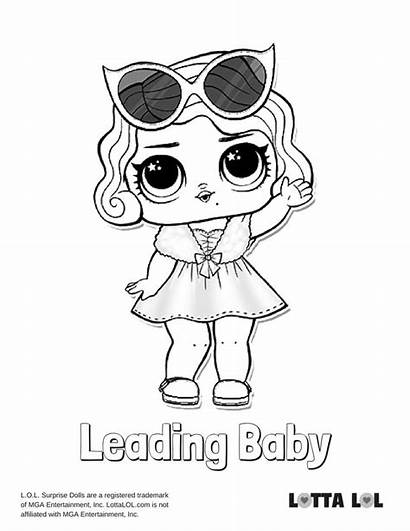 Lol Coloring Surprise Pages Leading Doll Printable
