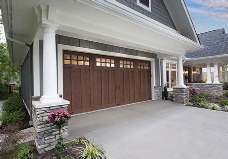 wood  steel garage doors clopay canyon ridge ultra