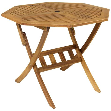 Garden Tables by Octagonal Folding Wooden Garden Table Savvysurf Co Uk
