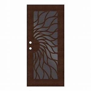unique home designs 32 in x 80 in sunfire copperclad With unique home designs screen door