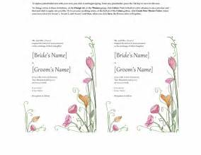 create wedding programs online microsoft word 2013 wedding invitation templates online