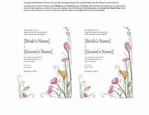 free wedding invitation templates for word 2007 chatterzoom With wedding invitation word template 2007