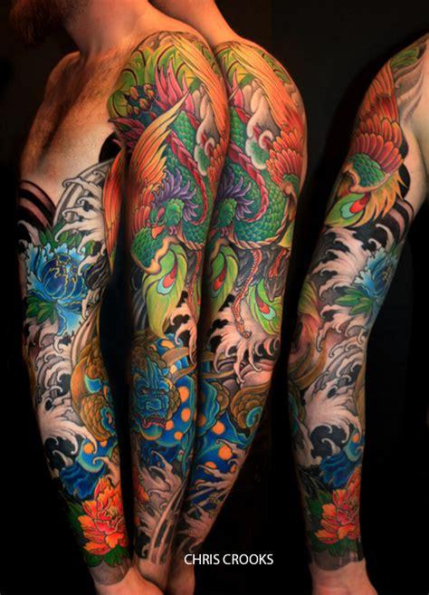 tatouage japonais dragon  fleur de lotus inkage