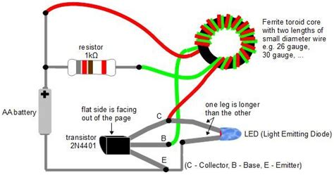 make a joule thief coil without a ferrite toroid
