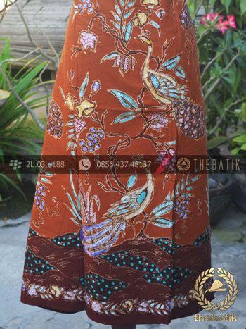 jual kain batik bahan baju motif remukan burung merak coklat thebatik co id