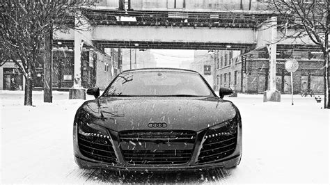 Audi R8 In Snow Wallpapers
