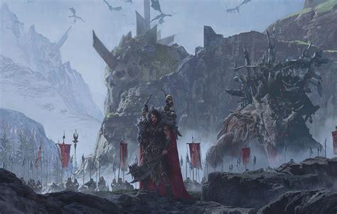 wallpaper sake fantasy soldiers armor warrior