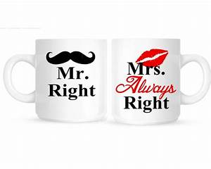 Mrs Always Right : mr right and mrs always right personalized coffee mugs ceramics dr oz and coffee mugs ~ Eleganceandgraceweddings.com Haus und Dekorationen