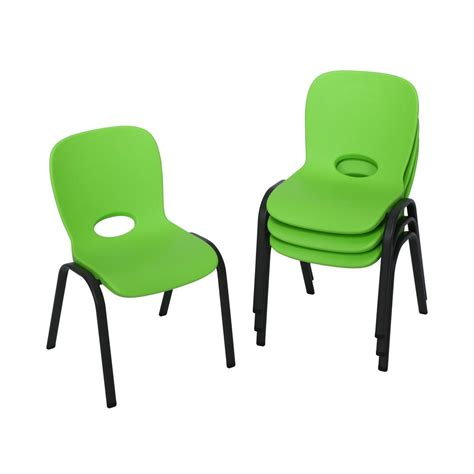 lifetime lime green stacking chair set of 4 80473