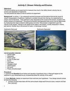 Erosion Stream Table Activities