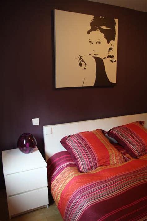 chambre aubergine et blanc photo chambre et chalet déco photo deco fr