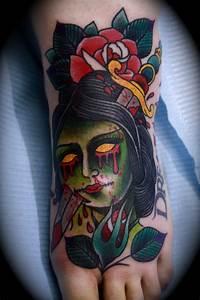 TRADITIONAL ZOMBIE GIRL!!! | Zombie girl, Tattoo ...