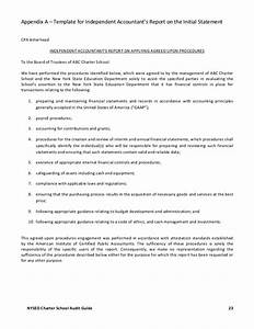 Agreed upon procedures report template 1 professional for Agreed upon procedures report template