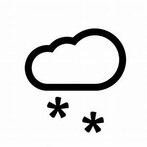 Snow symbol with a cloud a two asterisk Icons | Free Download