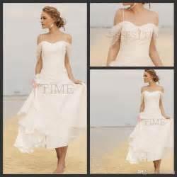 white casual wedding dress casual wedding dresses 2014 fall chiffon knee length ruffles shoulder