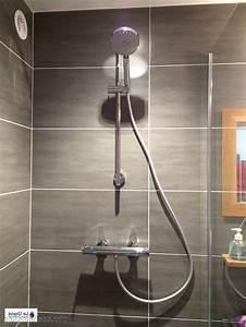 carrelage douche salle de bain With carrelage noir salle de bain