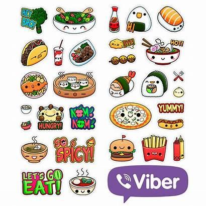 Viber Kawaii Stickers Comida Domestika App