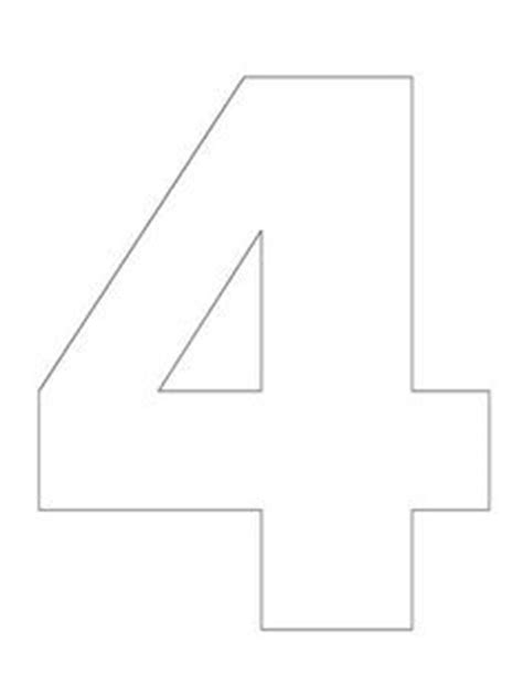 Number 4 Cake Template by Number 4 Pattern Use The Printable Outline For Crafts