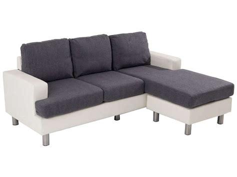 canapé d angle en tissu canapé d 39 angle fixe 3 places en tissu ronane coloris blanc