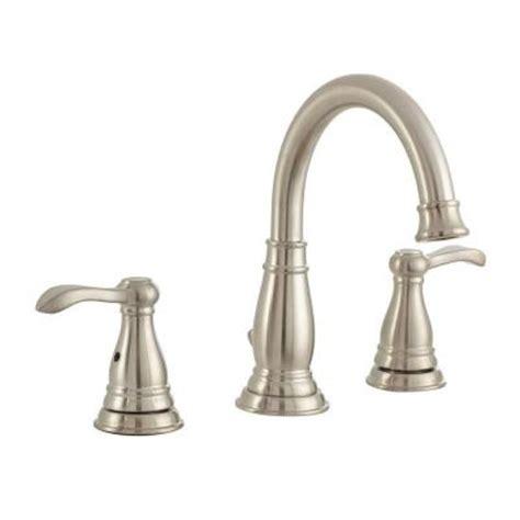brushed nickel bathroom faucets delta delta porter 8 in widespread 2 handle high arc bathroom