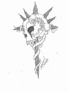 Twisted skull cross tattoo by XSkelletonVampX on DeviantArt