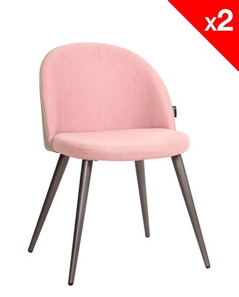 chaises retro chaise vintage métal et tissu gaufré lot de 2
