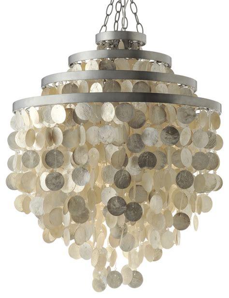 capiz shell chandelier chagne style