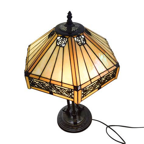 86% Off  Stained Glass Tiffany Style Side Table Lamp Decor