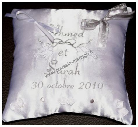 coussin alliance mariage personnalise coussin de mariage porte alliances personnalis 233 coussin
