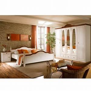 Komplett Landhaus Schlafzimmer Obus in Weiß Pharao24 de