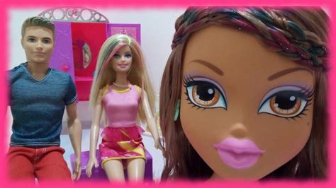 Barbie And Ken And Bratz Yasmin Hairstyle Makeover-styling