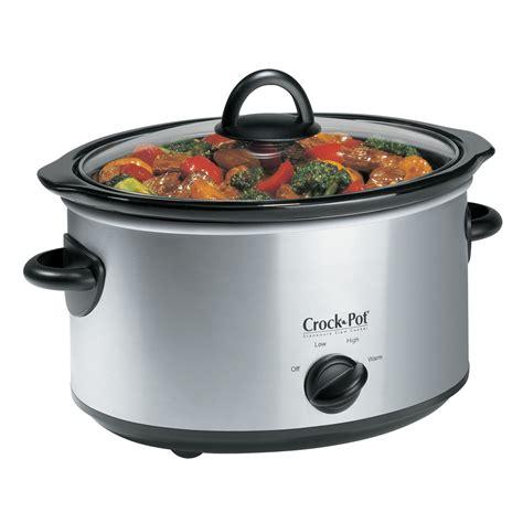 crock pot 174 4qt oval manual cooker stainless scv400ss cn crock pot 174 canada