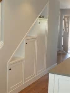 Storage Under Basement Stairs Idea