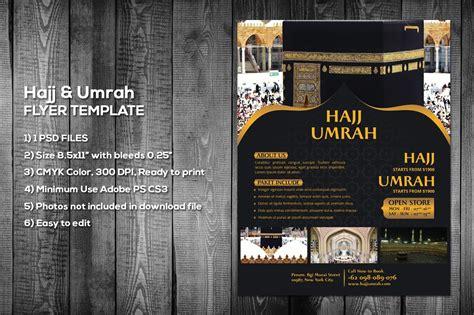 hajj umrah flyer template flyer templates creative