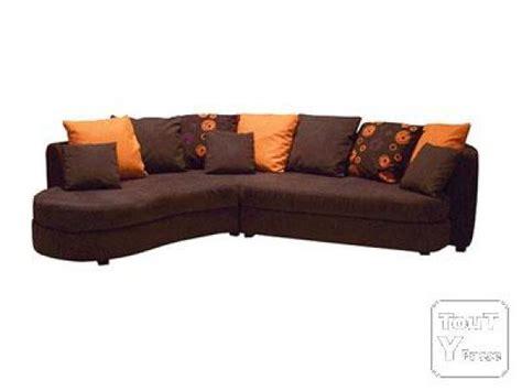 canap marron conforama photos canapé marron et orange