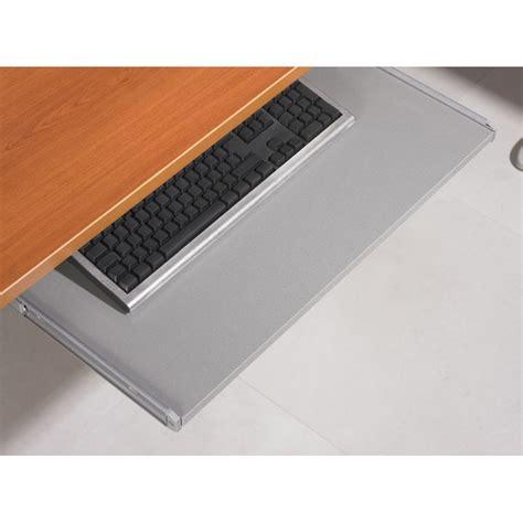 tablette coulissante bureau tablette coulissante pour clavier universelle alu beaux
