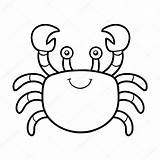 Crab Coloring Children Illustration Vector sketch template