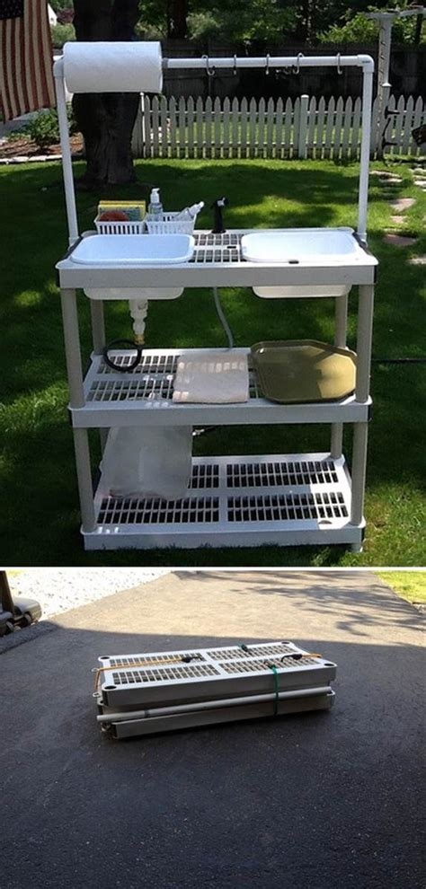 idea   collapsible camping wash station  tutorial