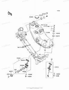 Kawasaki Motorcycle 2010 Oem Parts Diagram For Fuel Tank