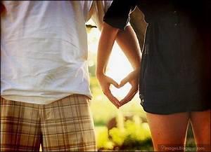 Couple, hand-heart, cute, love