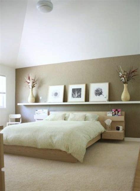chambre adulte beige déco chambre mur beige