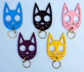 self defense keychain cat protect yourself with a kitty cat keychain with claws