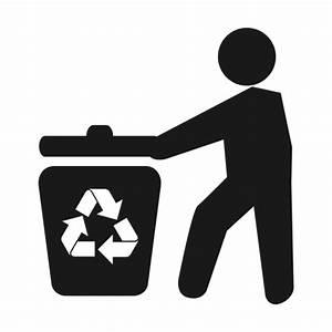 Papelera de reciclaje man.svg - Descargar PNG/SVG transparente