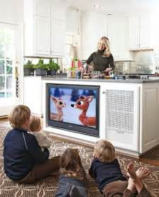 kitchen television ideas brilliant ideas how to keep an eye on your from your kitchen roomology