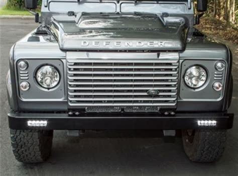 defender front bumper with integrated ring led lights