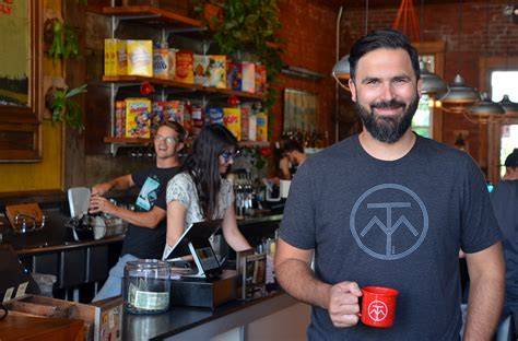 To communicate or ask something with the place. KCultivator Q&A: Bo Nelson percolates on positive energy in his Crossroads coffee shop ...